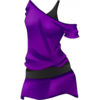 Clothes Icon Purple Christmas 2011 Off the Shoulder Dress
