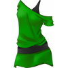 Clothes Icon Emerald Christmas 2011 Off the Shoulder Dress