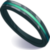 Black Ring with Green Edging