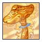 Orange Calcite Mushroom