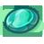 Turquoise Oval Bead