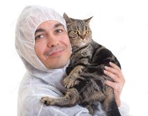 Man-protective-clothing-holding-cat-isolated-25363714