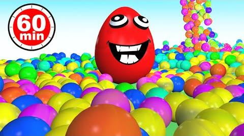 Ball Pit Show Learn Colors Collection 1 HOUR in 3D for Kids Toddlers Baby - Color Balls Egg Surprise