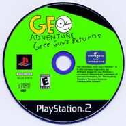 Geo Adventure Gree Guy's Returns PS2 disc NTSC