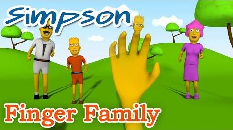 3D THE SIMPSONS Finger Family Nursery Rhyme Parody Finger Kids Song