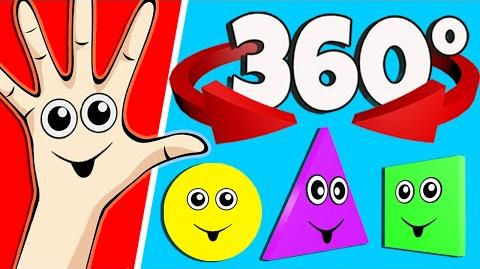 Finger Family 360° Surprise Eggs Animation Shapes Finger Family Nursery Rhymes Songs for Kids