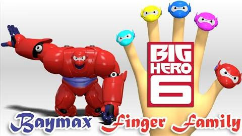 Baymax Big Hero 6 Finger Family Nursery Rhymes 3D Animation In HD From Binggo Channel