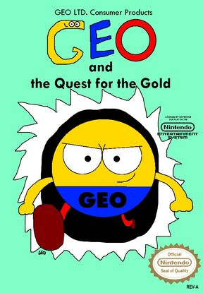 Geo and the Quest for the Gold NES Cover Art