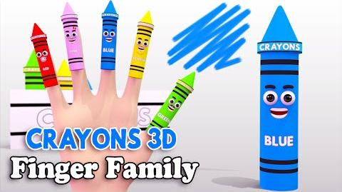 Crayons 3D Finger Family Nursery Rhymes 3D Animation In HD From Binggo Channel