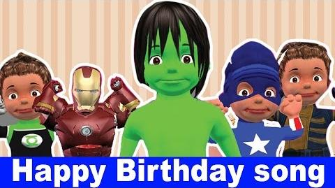 Hulk Birthday Song Happy Birthday Song for Kids Songs for Children with Animation Famous Song