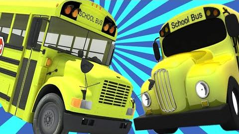 WHEELS ON THE BUS cartoon rhymes for children baby rhymes