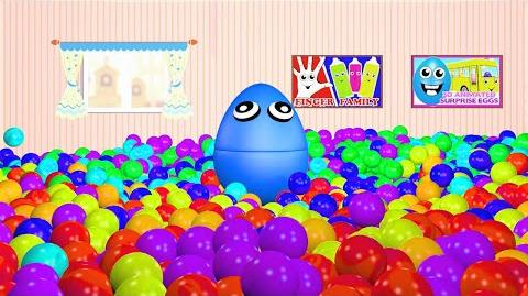 Ball Pit Show 3D Playroom for Kids to Learn Colors with Giant Surprise Eggs Balls Helicopters