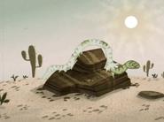 Desert Snake Shedding His Skin