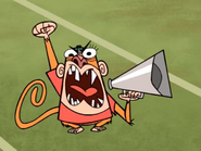 Jake Screaming Into the Megaphone