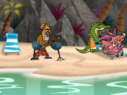 Mandrill, Nerdy, and Warthog Enjoying the Island