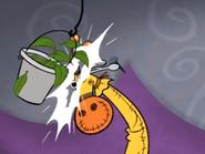 Kerry's Giraffe Head Busting the Bucket