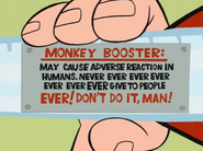 Monkey Booster Warning
