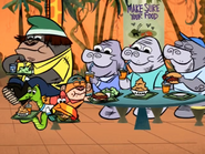 Everyone Having More Fun Eating With The Sea Cows