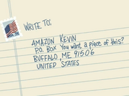 Write to Amazon Kevin