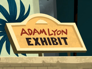 Adam Lyon Exhibit Sign