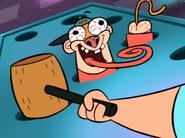 Jake Goofy Butts in Wack a Mole