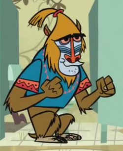 Mr. Mandrill is the potty
