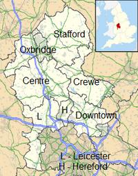 Staffordshire UK location map svg