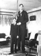 Wadlow and brother.