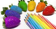 Strawberry rainbow pencils