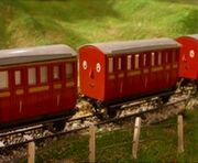 Red Narrow Gauge Coaches