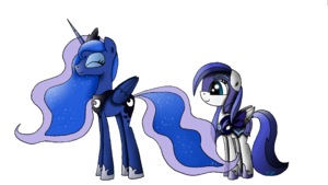 Luna and An by Victoara