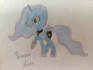 Princess Luna na kartce by Sand Hourglass