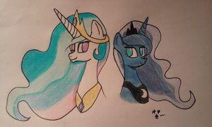 Luna i Celestia by Magi