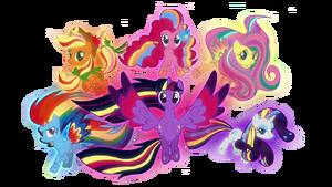 Mlp mane 6 rainbow power by fluttershy70-d7yby4j