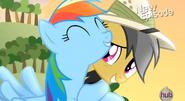 Casse-Cou et Rainbow Dash