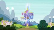 Friendship Rainbow Kingdom glowing radiantly S4E26