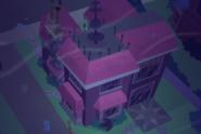 Maison de Twilight vu aérienne.