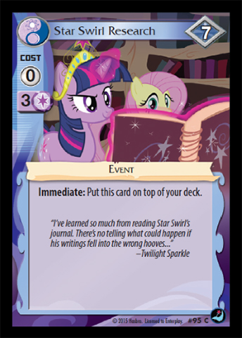 Star Swirl Research   My Little Pony Collectible Card Game
