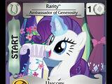 Rarity, Ambassador of Generosity