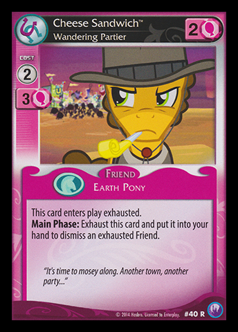 cheese sandwich wandering partier my little pony collectible card