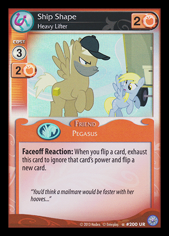 Ship Shape, Heavy Lifter | My Little Pony Collectible Card