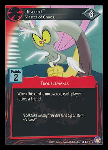 Discord, Master of Chaos | My Little Pony Collectible Card