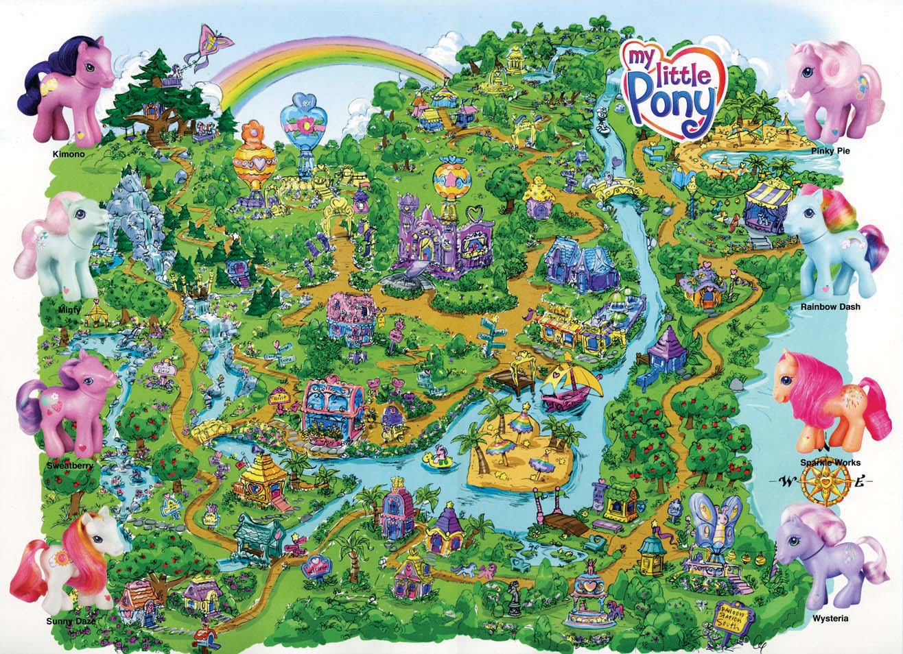 Map Of Ponyville Ponyville | My Little Pony G3 Wiki | FANDOM powered by Wikia