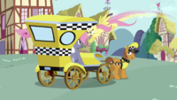 S2E19 fluttershy fight in taxi