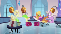 Ms Harshwhinny and Ms Peachbottom at the spa S3E12