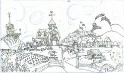 Dave Dunnet production sketch farm