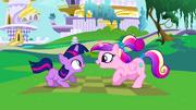 Princess Cadance and Twilight as a child S2E25