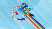 1000px-Rainbow Dash with Rarity and the wonderbolts S1E16