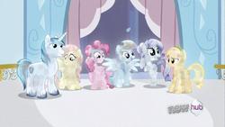 Pinkie, Applejack, Fluttershy,Rainbow,Rarity and Shining Crystal Ponies