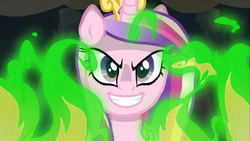 Chrysalis in her Cadance disguise